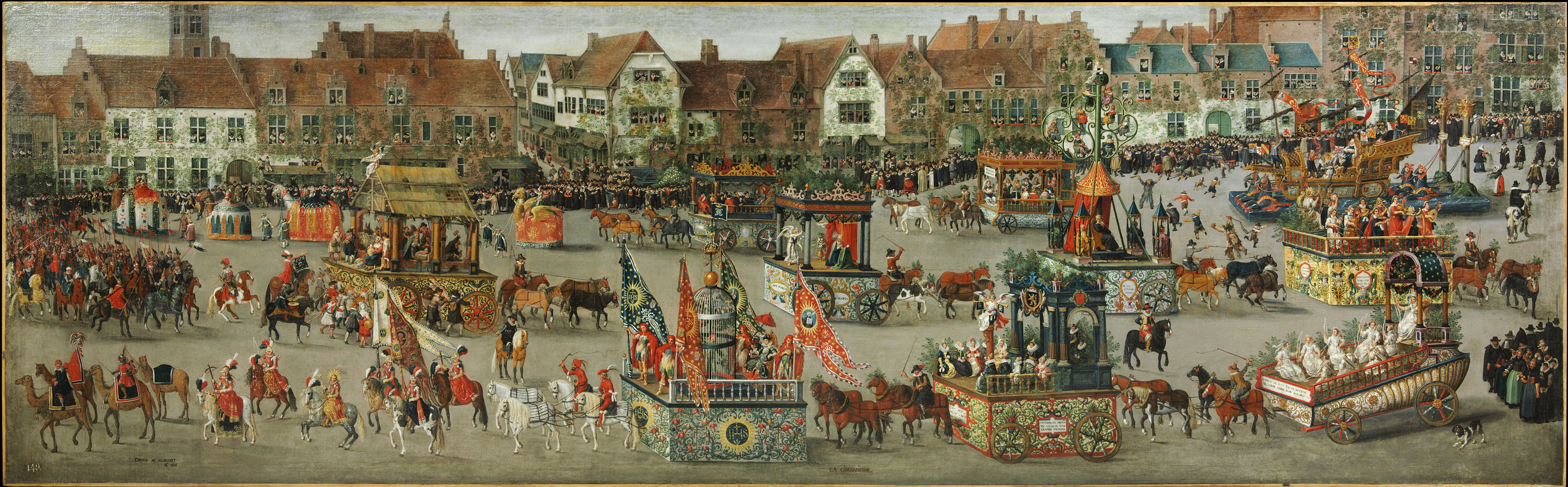 Denis van Alsloot. The Ommeganck in Brussels on 31 May 1615. The Triumph of Archduchess Isabella