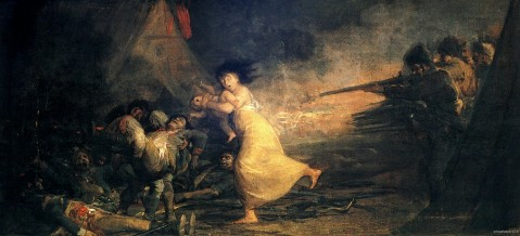 Francisco Goya. Fusilamiento en un campo militar. Ca. 1808-1810