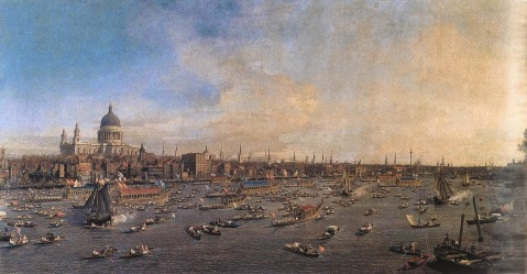 02. Canaletto. London. Westminster Abbey, with a Procession of Knights of the Bath, 1749