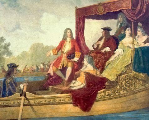 03. Jorge I de Inglaterra com Handel, à esquerda.