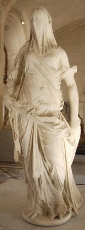 Antonio Corradini. La femme voilée (La foi). 1743-1844. Musée du Louvre.