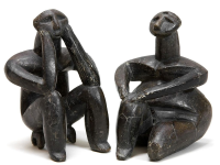 06. Seated man and woman, from Cernavoda, Romania. Ca. 4000-3500 BCE