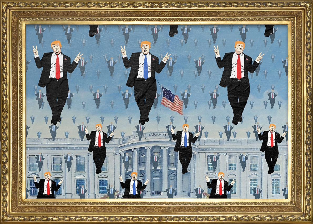 Trump X Magritte. The Surrealist Series by Butcher Billy (2016) Trump Travesty