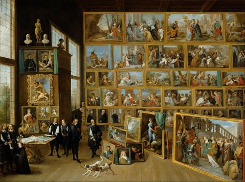 David Teniers (II) - The Gallery of Archduke Leopold in Brussels 1651