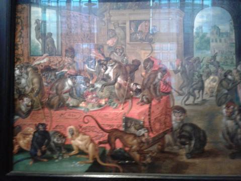 Jan Brueghel o Velho. O festim dos macacos. 1621. Foto Fernando
