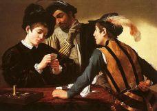 03. Caravaggio. Les Tricheurs, C. 1594