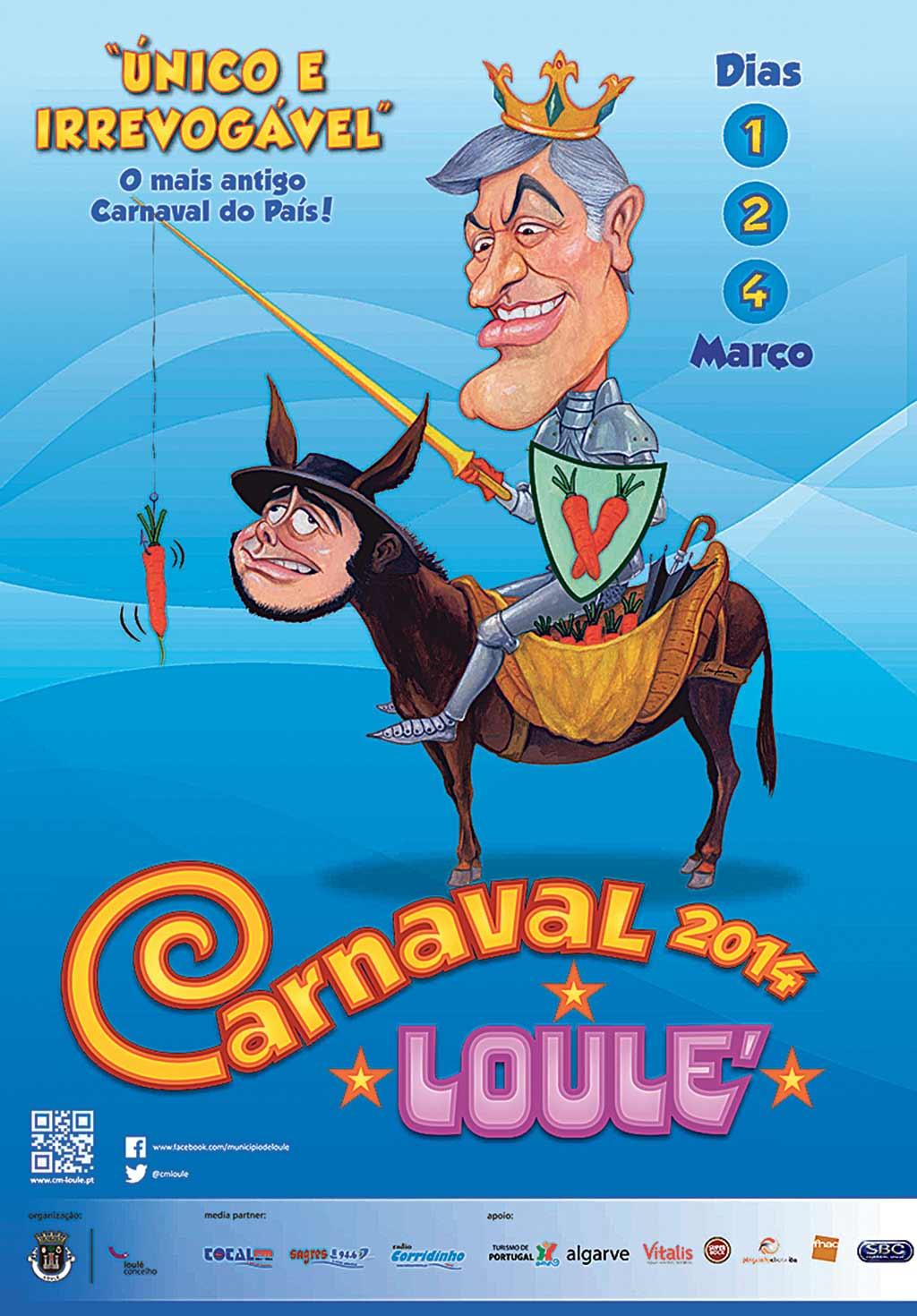 Cartaz do Carnaval de Loulé foi proibido de ser publicitado nos écrans das caixas multibanco. O que está em causa é uma caricatura