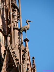 Cegonha, escultura na Catedral de Estrasburgo