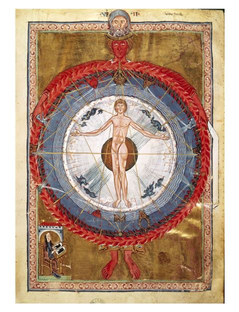 The Universal Man, Liber Divinorum Operum of St. Hildegard of Bingen, 1165