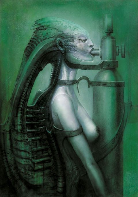 Biomechanoid 75, 1975, HR Giger.