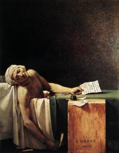Death_of_Marat_by_jacques Louis David. 1793.