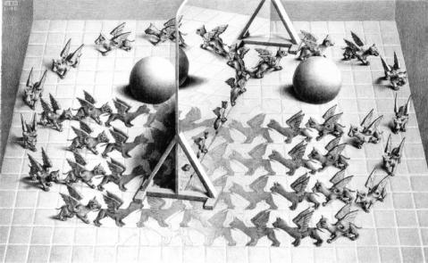 M.C. Escher. Magic Mirror. 1946