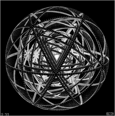 M.C. Escher. Concentric rinds. 1953.