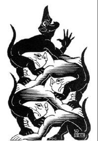 M.C. Escher. Devils. 1950.