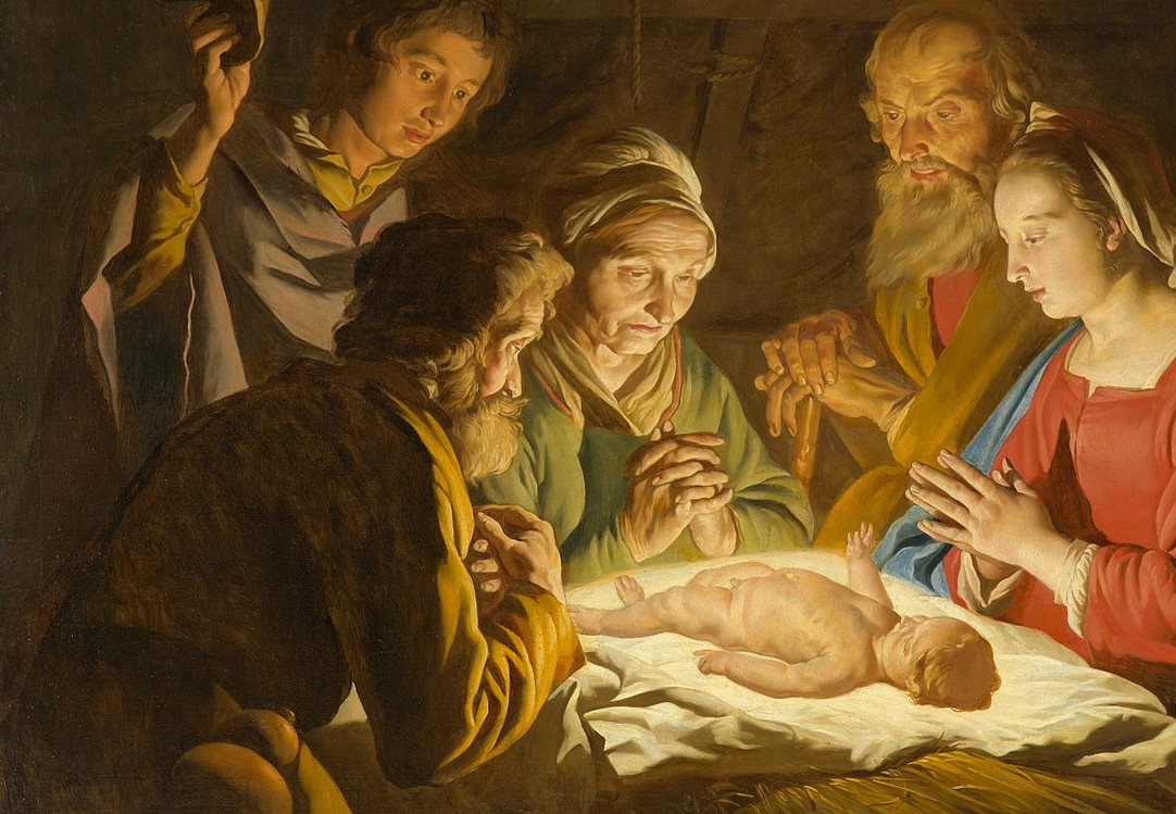 Matthias Stom. The Adoration of the Shepherds. 1635-1640.