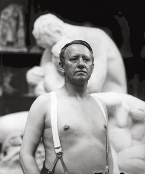 02. Gustav Vigeland in the studio. 28 May 1917.