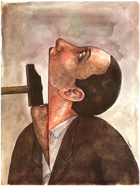 Roland Topor. Liberté d'expression. Amnestia Internacional. 1977