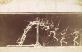 3. Etienne-Jules Marey. Chronophotographic Study of Man Pole Vaulting. 1890.