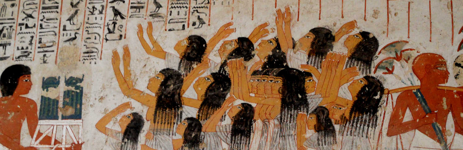 Mourning women in the tomb of Vizier Ramose, Amarna period. Photo VB