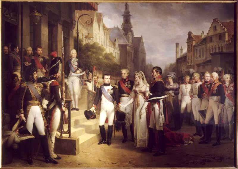 Nicolas Gosse - Napoleon receives the Queen of Prussia at Tilsit, July 6, 1807
