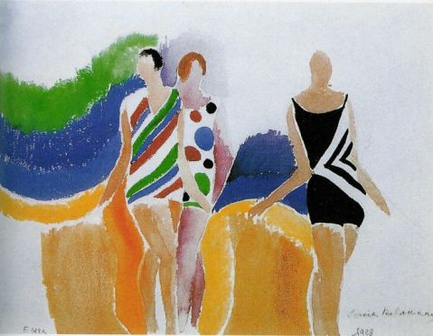 Sonia Delaunay. Girls in bathing suit. 1928
