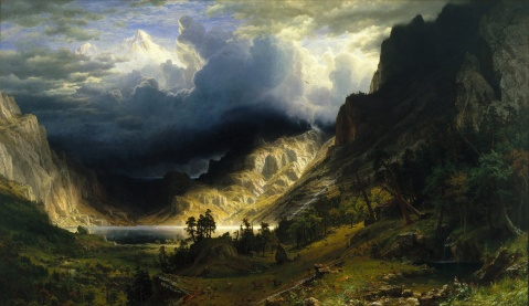 02. Albert Bierstadt. A Storm in the Rocky Mountains, Mt. Rosalie, 1866