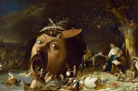 02. Las tentaciones de San Antonio. obra de Joos Van Craesbeeck, fue realizada en el año 1650