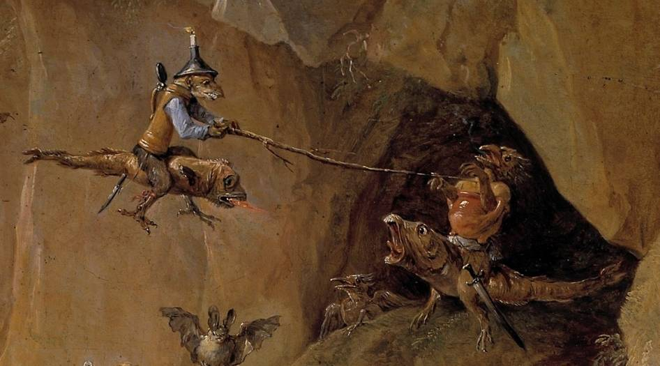 03. David Teniers the Younger.The Temptation of Saint Anthony (detail) (c 1650)