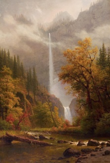 06. Albert Bierstadt. Mjultnomah Falls.Finais do séc. XIX.