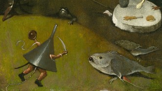 08. Hieronymus Bosch. The Temptation of Saint Anthony. Detail, ca. 1500–10.