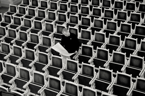 Max Richter.  Fotografia: Eric Weiss.