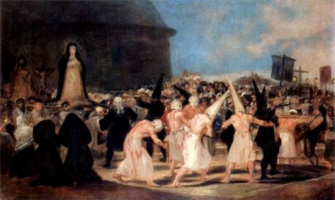 Francisco de Goya. Procissão de flagelantes. Entre 1812 e 1819.