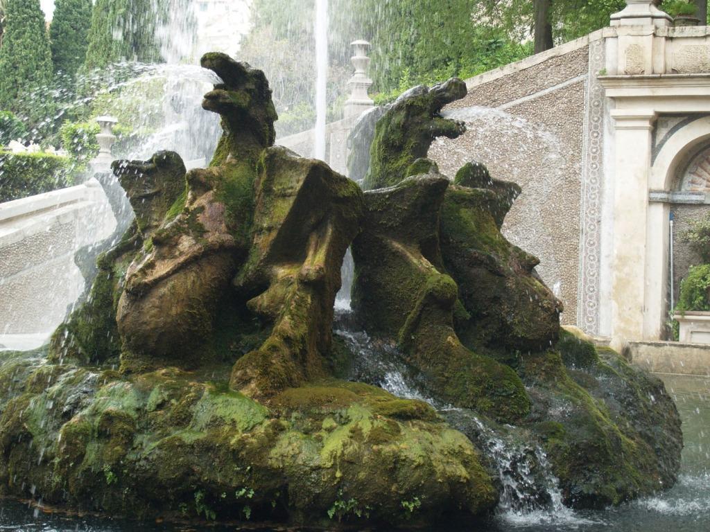 15. Fonte do dragão. Villa d'Este. Tivoli
